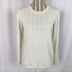 Banana Republic Ivory Pullover Sweater Sz M